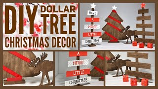 DIY Rustic Farmhouse / Woodland Christmas Decor Ideas 2019 - Dollar Tree Neutral Color Simple Crafts