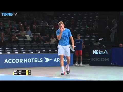Dodig Melo Edge Pospisil Sock In Paris 2015 Final
