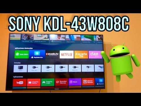 Sony KDL-43W808C Unboxing Y Analisis En Español - Full HD De Altisima Calidad