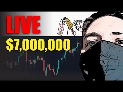 Live  -MEGA PUMP Get Rich or Die Rekt Trying $7,000,000 Bitcoin Knife Catch Long