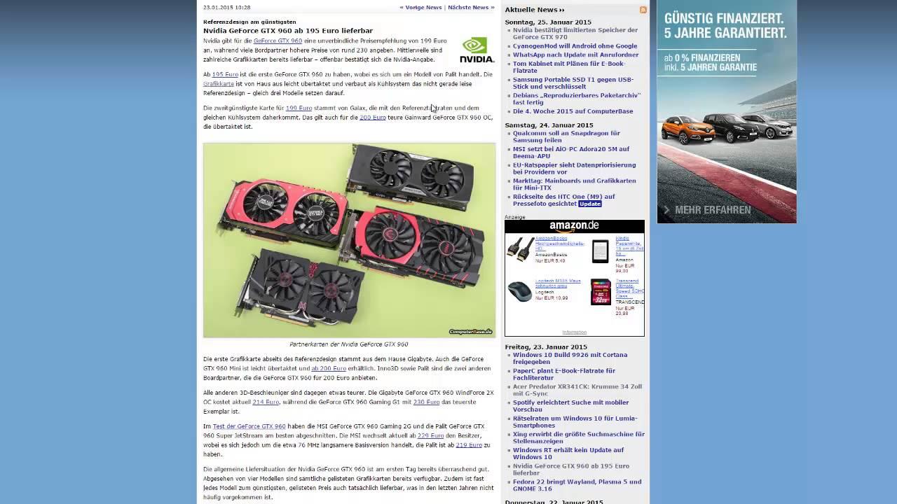TechNews W4 - Big Maxwell (GTX Titan X), GTX 960 & Speicher der 970