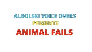 ALBOLSKI VOICE OVERS PRESENTS~ ANIMAL FAILS