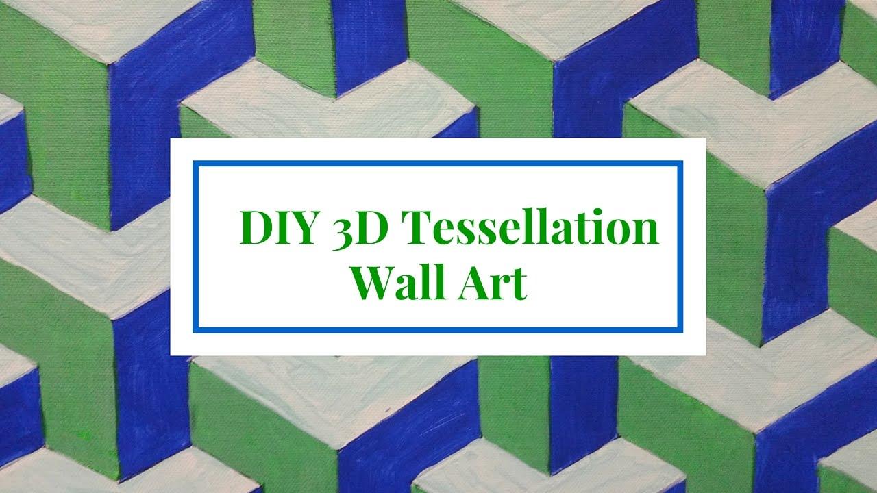 DIY 3D Tessellation Wall Art