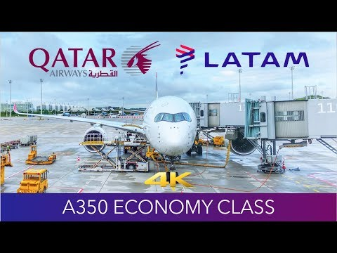 FUSION A350! QATAR x LATAM A350 Munich to Doha Review 4K