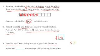 4th Grade Math Chapter 9 Test Review #5 7