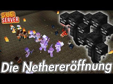 Die Nethereröffnung! - Minecraft SubServer | Earliboy