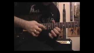 Hammer on with Slide Guitar lesson by Amer Touma