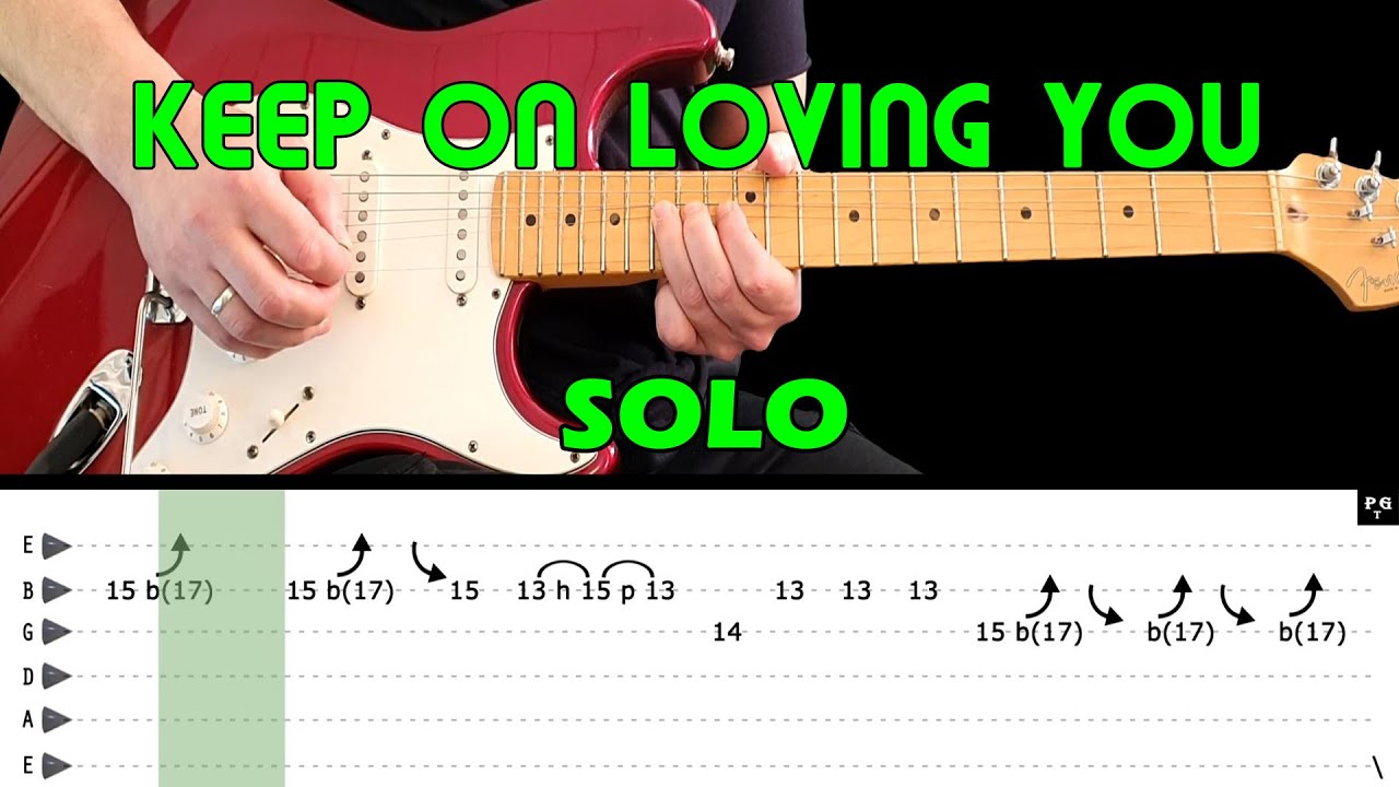 KEEP ON LOVING YOU   Guitar lesson   Guitar solo with tabs fast & slow    REO Speedwagon