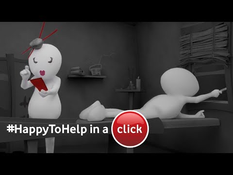 Switch to Vodafone in a click. #HappyToHelp in-a-click.