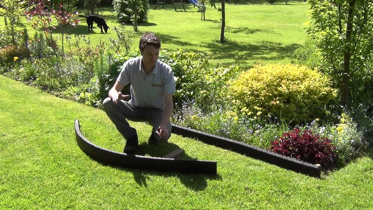 Black Crumb Rubber Garden Edging YouTube