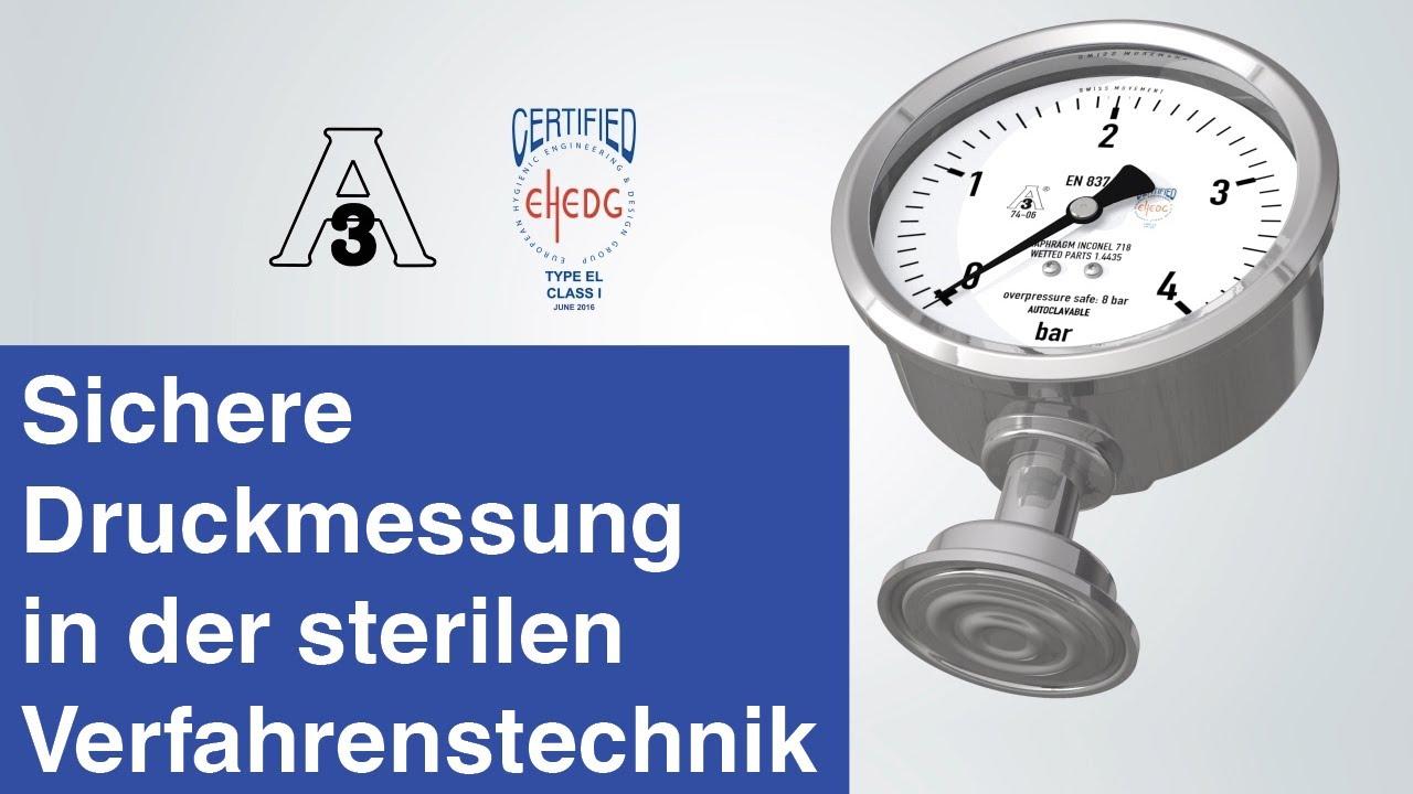 Sichere Druckmessung in der sterilen Verfahrenstechnik | Plattenfedermanometer im Hygienic Design