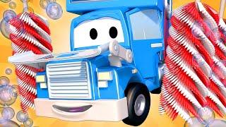 Грузовик автомойка - Трансформер Карл в Автомобильный Город 🚚 ⍟ детский мультфильм