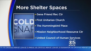 HOMELESS BATTLE COLD SNAP:  Local homeless shelters increase capacity to help house the homeless dur