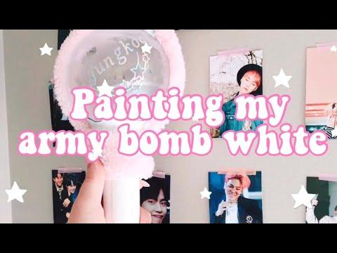 painting my army bomb white (reupload) I berymlk☆゚