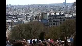 Outside of Sacre Coeur & view of Paris Thumbnail