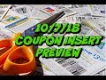 10/7/18 COUPON INSERT PREVIEW | 2 INSERTS | How many papers am I getting?