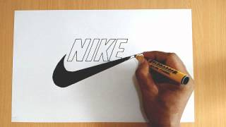 How to Draw the Nike Logo(Learn how to draw a perfect Nike swoosh logo step by step in this drawing tutorial., 2015-08-30T18:12:19.000Z)