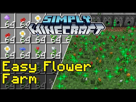 Easy Flower Farm Tutorial | Simply Minecraft (Java Edition 1.16)