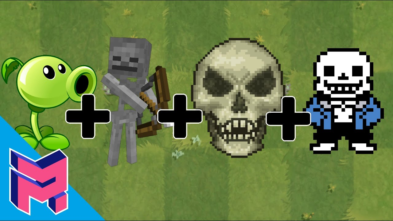 Peashooter + Skeleton + Sans + Skeletron - Plants vs Zombies Animation