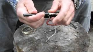 Jute braided waxed waterproof fire starter tube