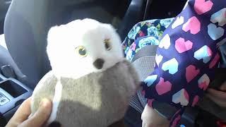 КСЮша грає в іграшки в машині з мамою Ksenia plays with toys in the car with her mother