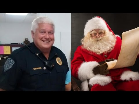 Police Chief With White Beard Plays Along With 3-Year-Old Who Thinks He's Santa