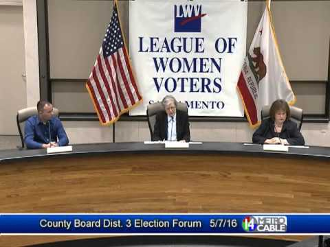 Election Forum: Dist. 3 Sacramento County Board of Supervisors