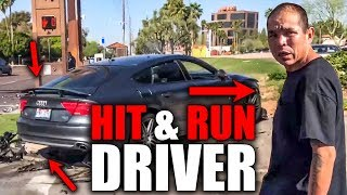 HIT & RUN DRIVER CHASED & CAUGHT | CRAZY, STUPID & ANGRY PEOPLE vs BIKERS  [Ep. #370]