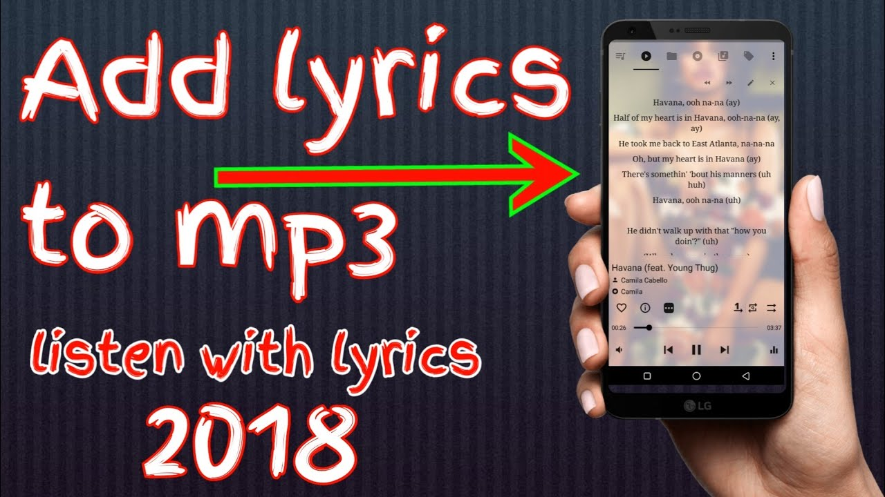 how to add lyrics to a song on android in hindi