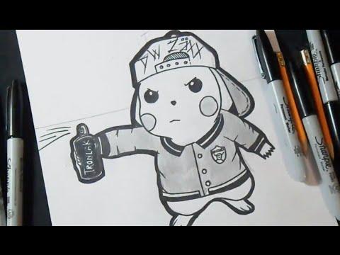 Speed Drawing Bad Pikachu (Graffiti) ZaXx