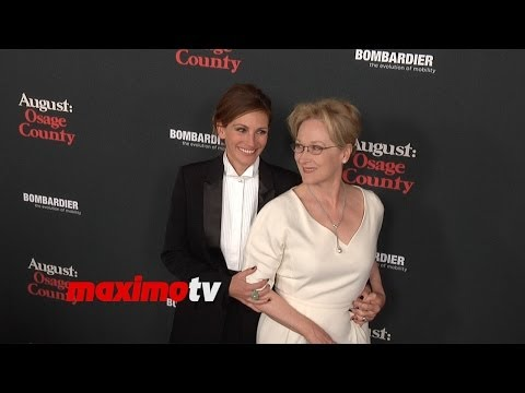 "Thumbnail: Julia Roberts and Meryl Streep ""August: Osage County"" Los Angeles Premiere Red Carpet"