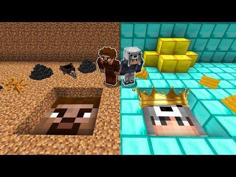 ZENGİN YERALTI TÜNELİ VS FAKİR YERALTI TÜNELİ! 😱 - Minecraft