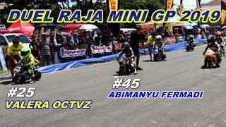 DUEL SENGIT PEMBALAP CILIK MINI GP ABIMANYU FERMADI VS VALERA OCTAVIANUS ROAD RACE 2019