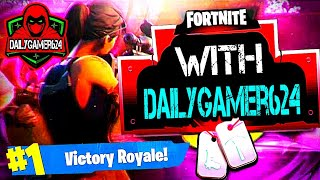#1 Victory Royale in Fortnite W/ GF`s Nephew!!!