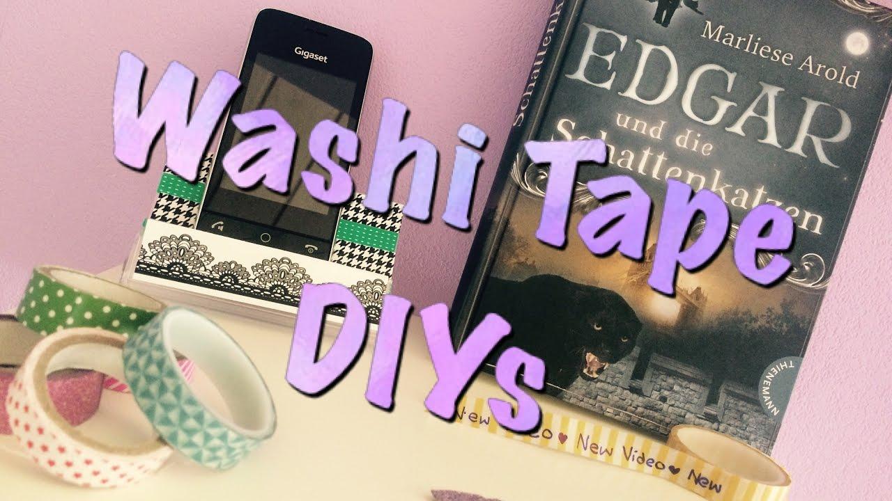 3 diy ideen mit washi tape youtube - Washi tape ideen ...