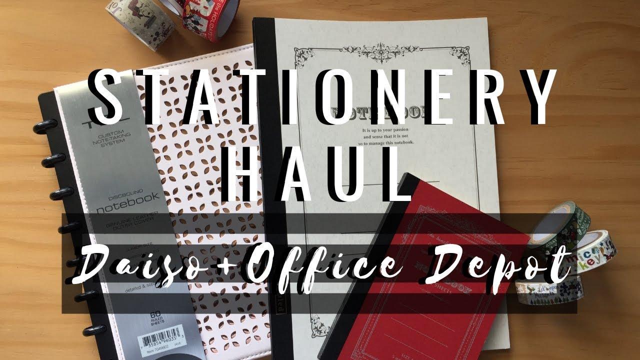 Small Stationery Haul (Daiso + Office Depot) 📒