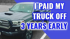 Tips & Benefits To Paying Off Your Car Early | I PAID OFF MY TRUCK!