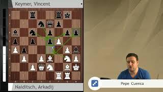 Naiditsch vs Keymer (Grenke Chess): Partida de ataque soñada
