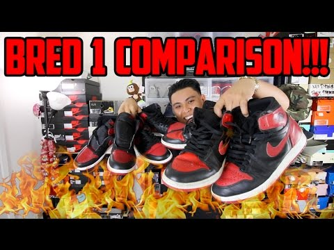 9fb42ec64cce AIR JORDAN BRED 1 COMPARISON!!! (1985