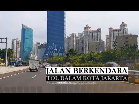 Driving Downtown Jakarta - Jakarta Inner Ring Road - Tol Dalam Kota