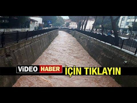 BALAVCA DERESİ'NDE SU SEVİYESİ YÜKSELDİ...