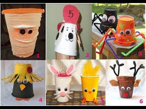 Manualidades para ni os con vasos descartables 2 youtube - Trabajos manuales de navidad para ninos de primaria ...