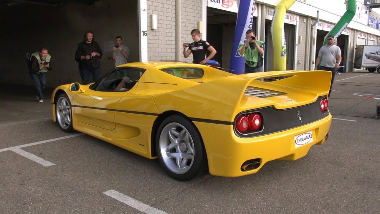 Yellow Ferrari F50 Sound Youtube