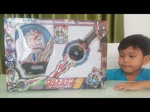 Unboxing Dan Review Mainan Kw Fake Ultraman Pedang Orb DX Orbcalibur Dan Orb Ring