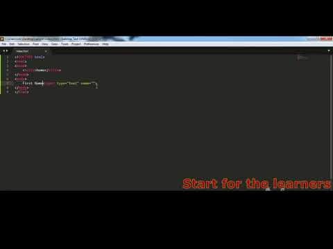 Basic HTML | Using Input Tag | Web Frontend