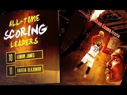 LeBron James Passes Hakeem Olajuwon on All-Time Scoring List