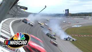 Alex Bowman spins out causing wreck in Cup Series playoff race at Talladega | Motorsports on NBC