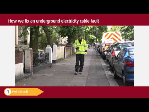 How we fix an underground electricity cable fault