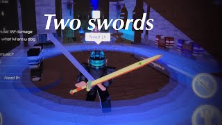 How to equip two sword (Swordburst 2 Roblox)