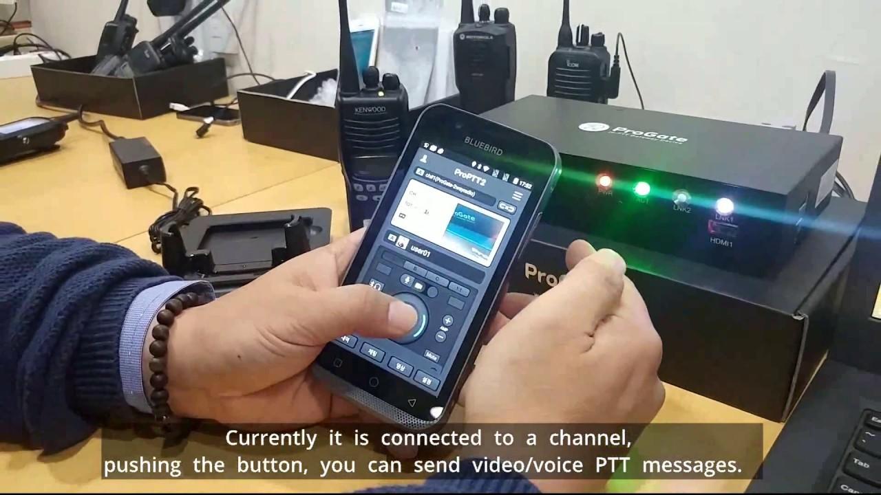 ProPTT2 with Bluebird EF500[Enterprise Full Touch Handheld Computer]